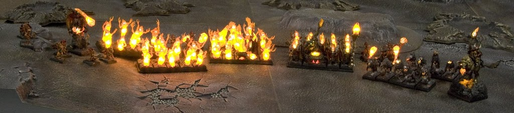 The cult of fire is a daemons of chaos army for fantasy