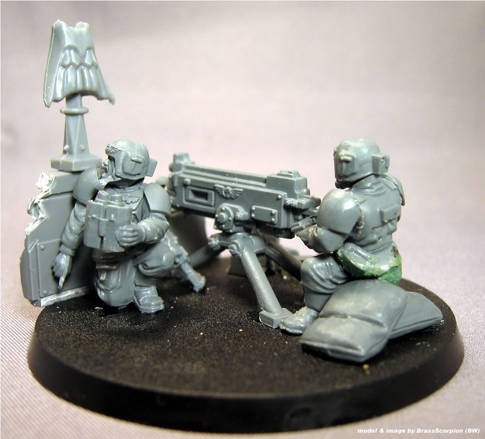 40K IG Cadian Heavy Weapons Gunner Arms Bits