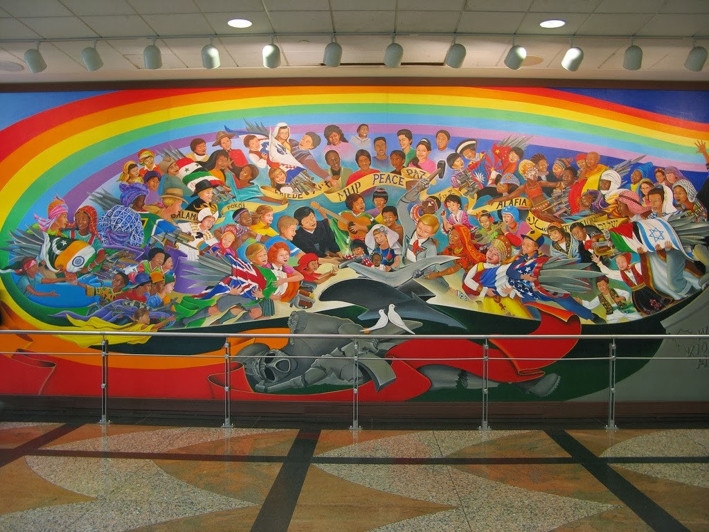 Warhammer conspiracy theories in 3 2 1 go for Denver international airport mural