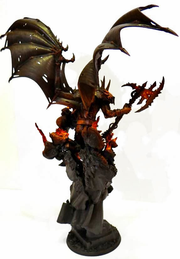Daemon Prince vs Bloodthirster Forgeworld Daemon Prince