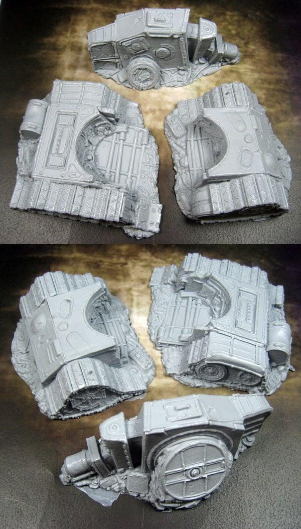 Terrain: Scrap Yard - Destroyed Tank