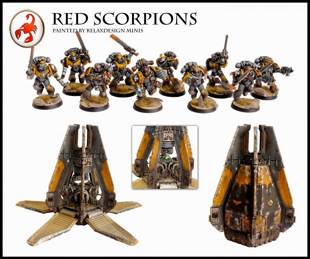40K SHOWCASE: Red Scorpions By Relaxdesign