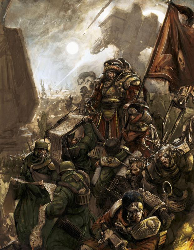 40K Tactics: Astra Militarum Company Command Squads - Bell ...