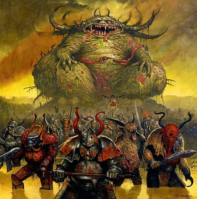 40K Deep Thought Why is Nurgle the Most Popular Chaos GodWarhammer 40k Chaos Gods