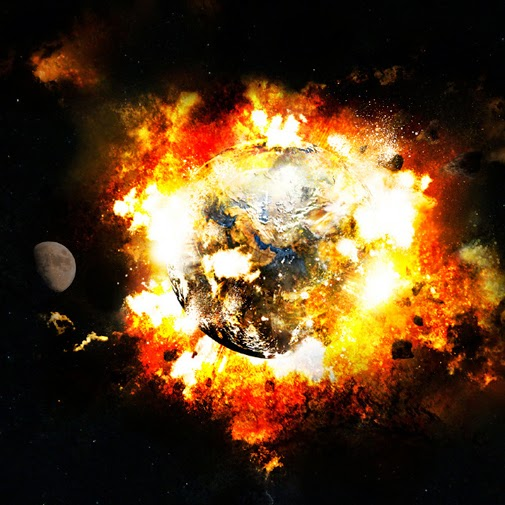 astronaut earth blowing up - photo #23