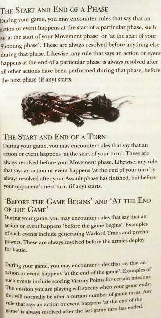 start of turn