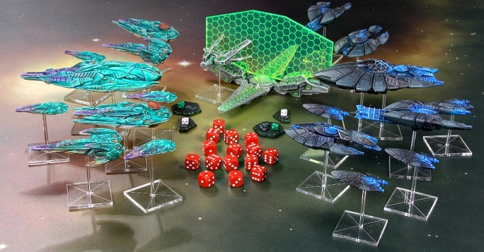 Aquan and Directorate fleets from the Return of the Overseers box set.