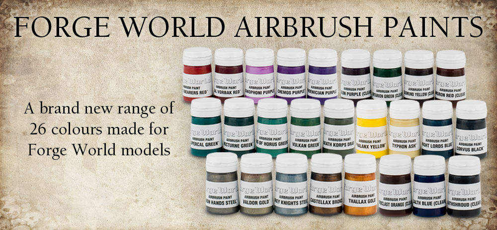Using Forgeworld Airbrush Paints
