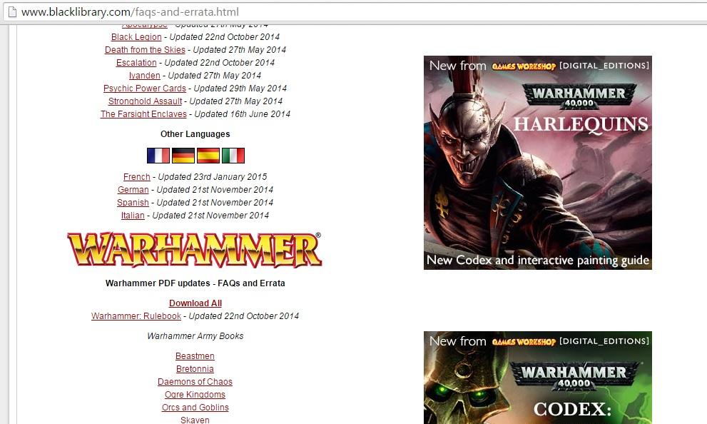 BL Warhammer FAQ