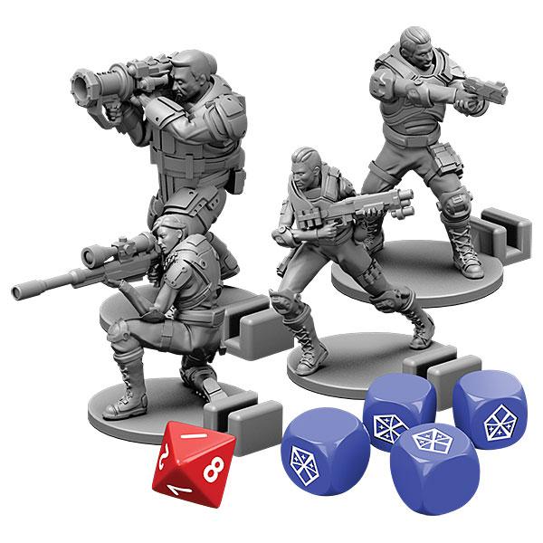 xcomboardgame plastic and dice