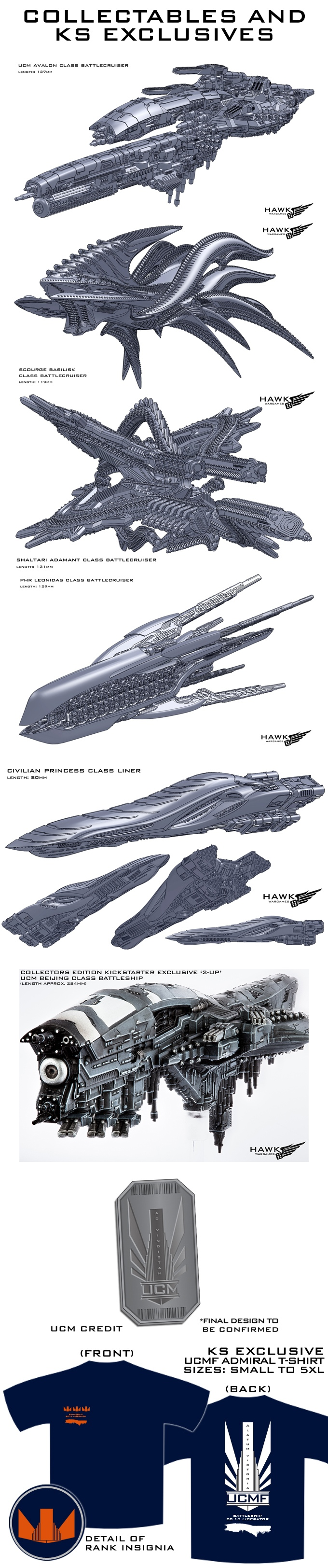 Dropfleet Commander Kickstarter Ship Extras