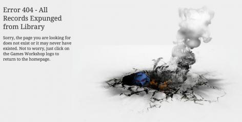 Games Workshop 404 page