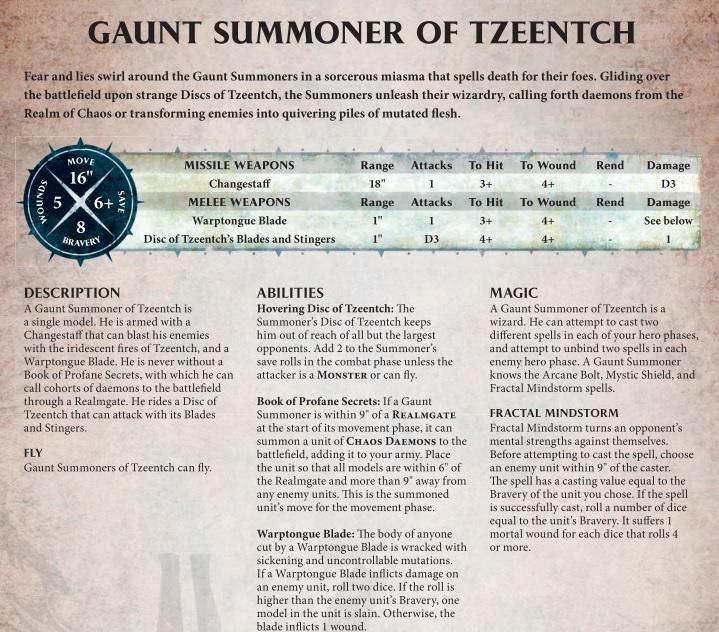gaunt summoner warscroll