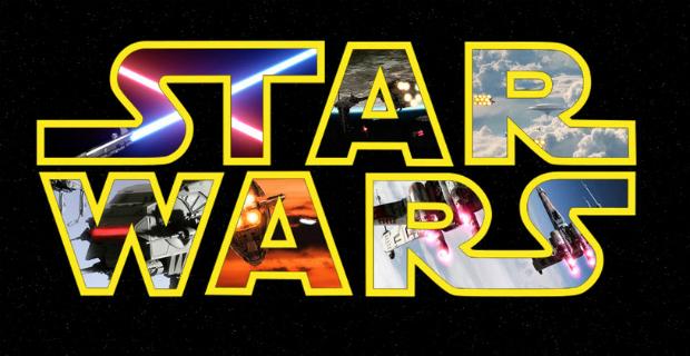 star wars logo movie stills