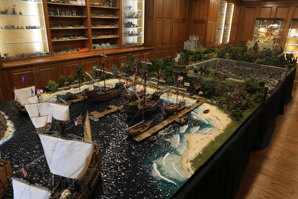 devato castle diorama harbor