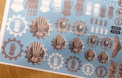 Iron hands Decals