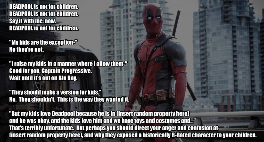 deadpool not kids