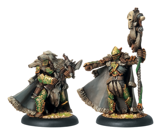 Warmachine Bell of Lost Souls Circle of Orboros Reeves Chieftan and Standard