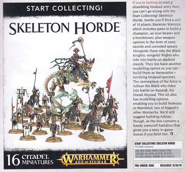 cd65aee7058 Start Collecting! Skeleton Horde  85 (35% bundle discount!) Start Collecting!  Skaven Pestilent  85 (38% bundle discount) Battletome  Skaven Pestilent  25
