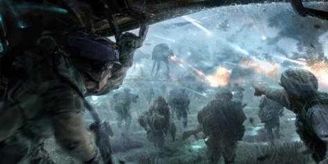 star wars at-at battle