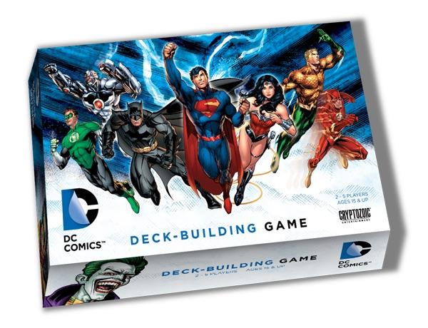 DC deck building game box
