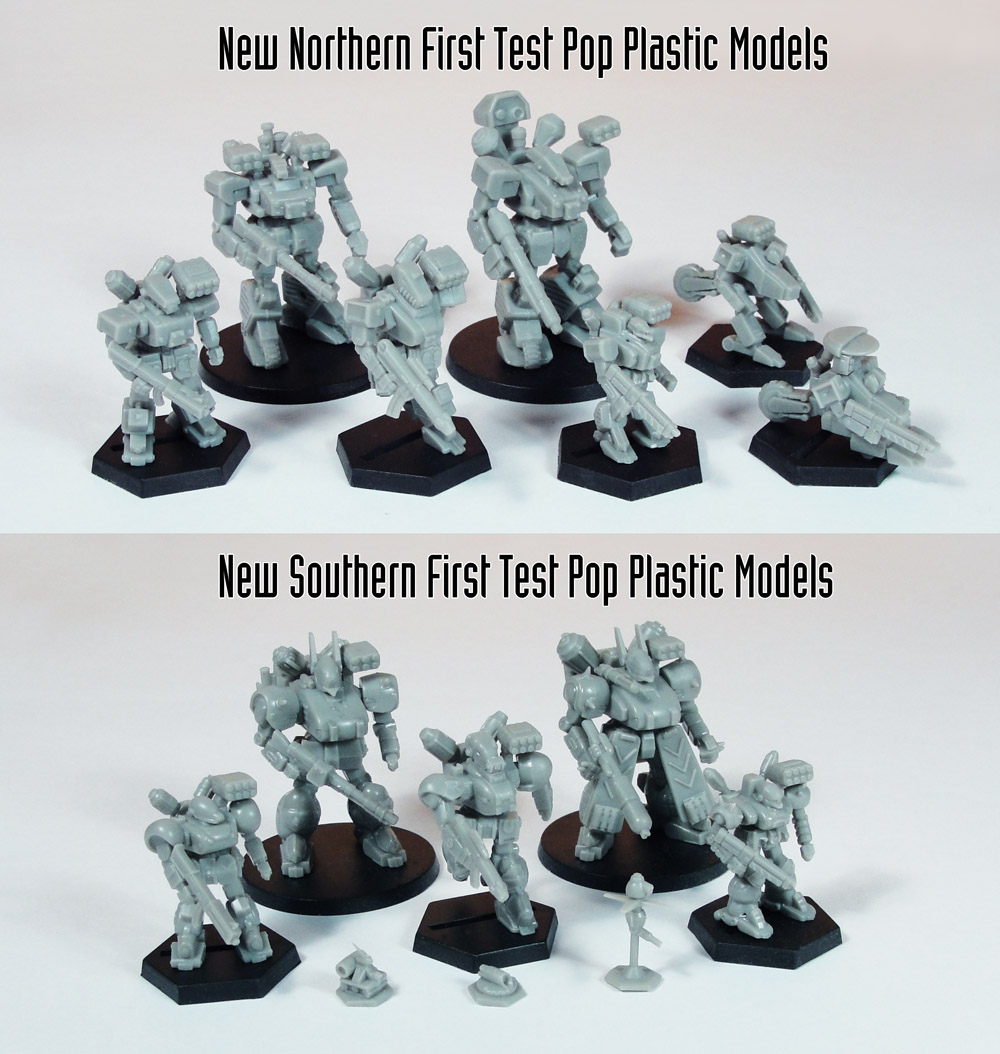 Northern and Southern First Test Pop Plastic Models Web