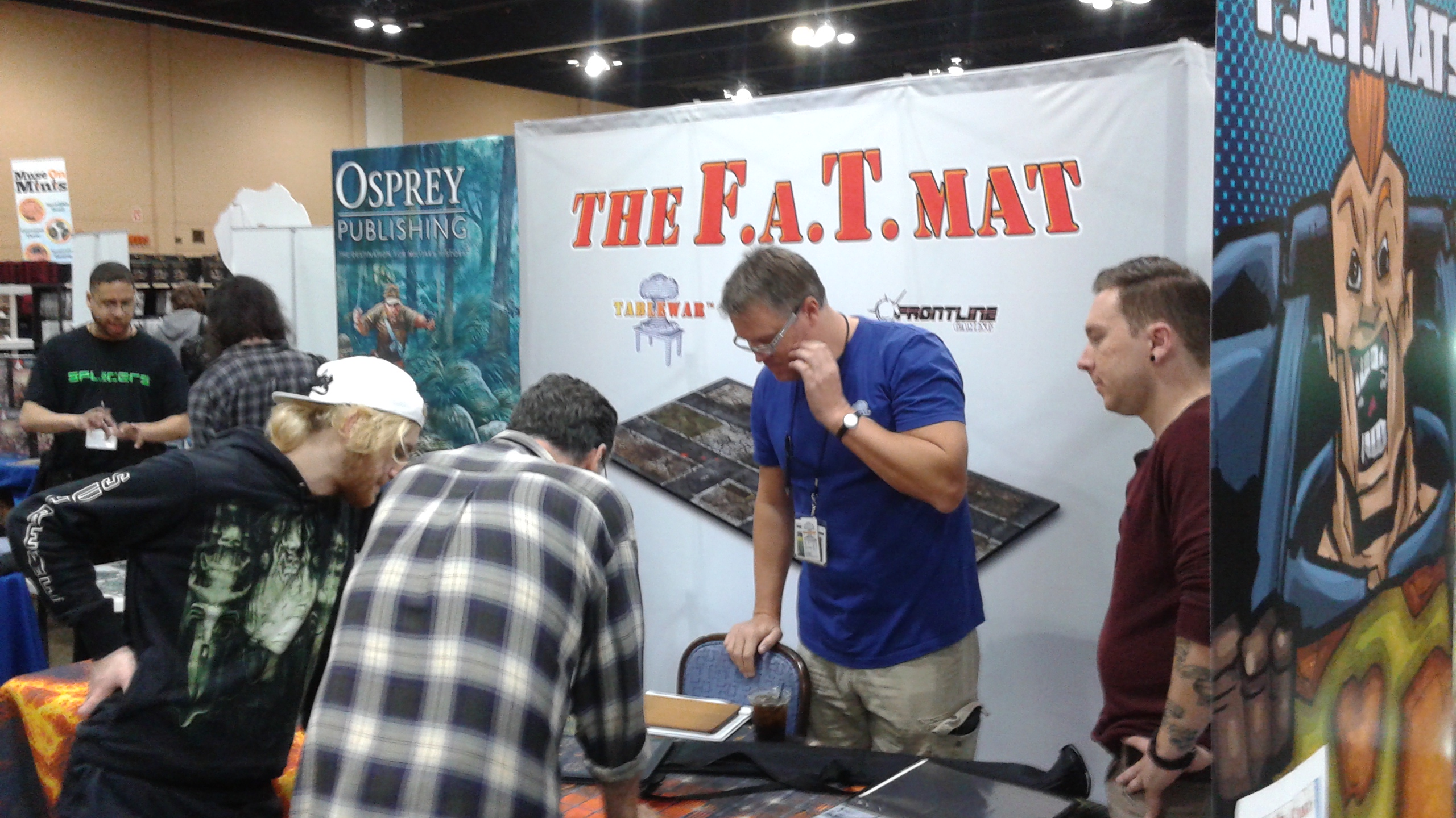 Our Glorious F.A.T. mat booth!