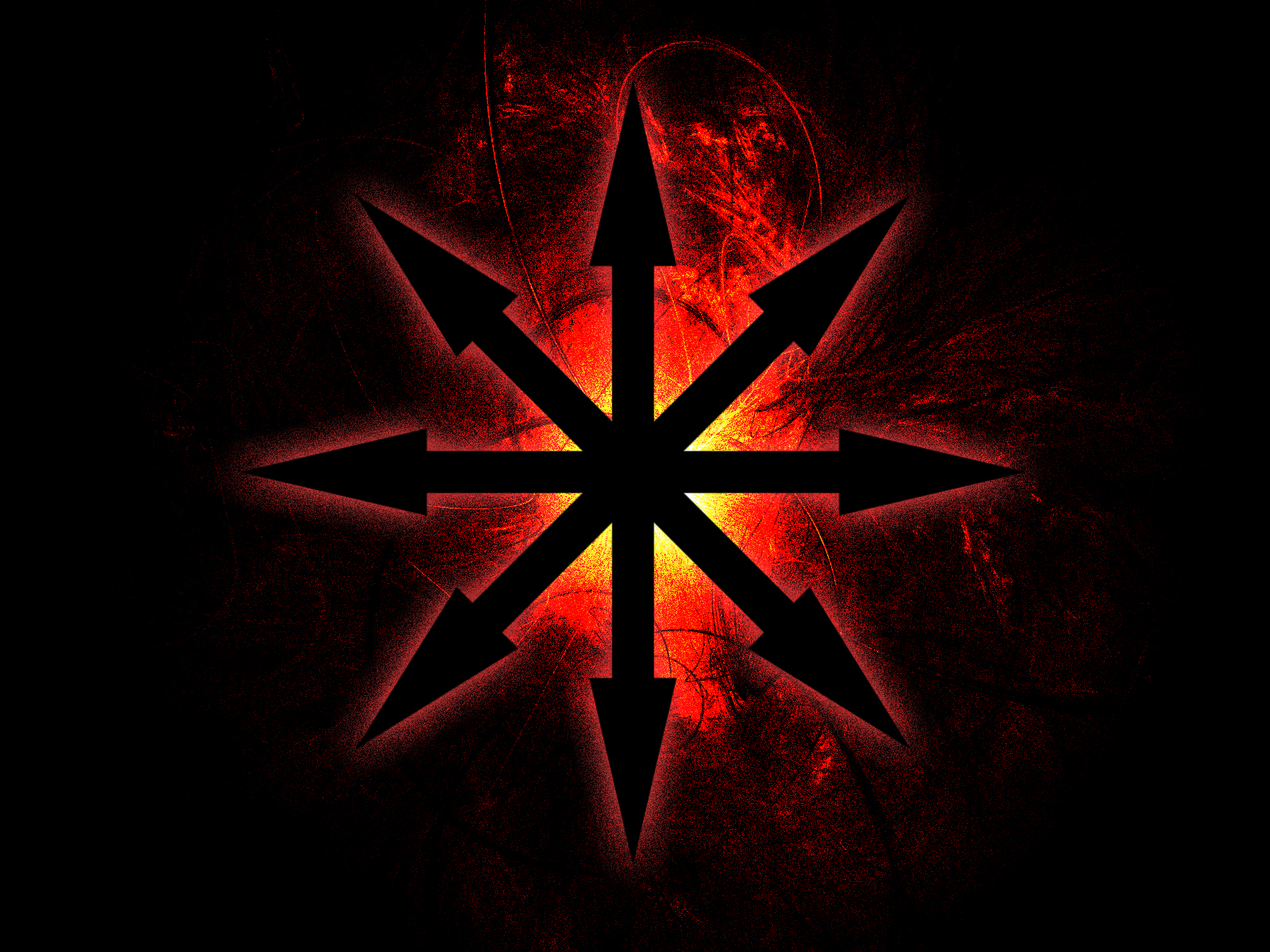 This image displays the chaosstar, which is a symbil for anti-cosmos or simply chaos