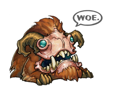 Gruff card game woe