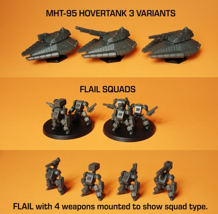 Final Test Pops Assembled MHT-95 Hovertanks and Flails Minis Web