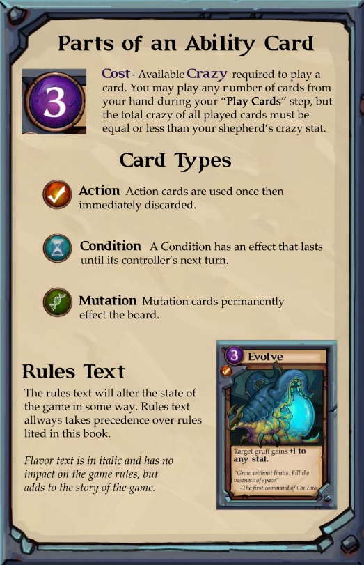 Gruff Ability Cards