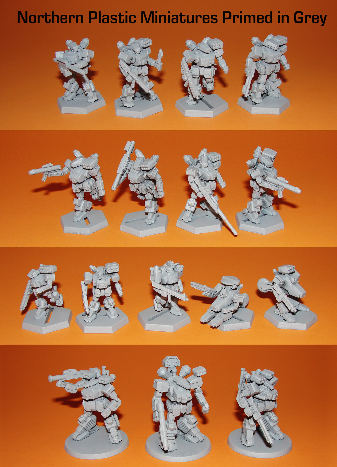 Northern Plastic Miniatures Primed in Grey Web