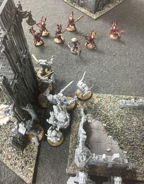 Templar 30k vs 40k0 DE 4