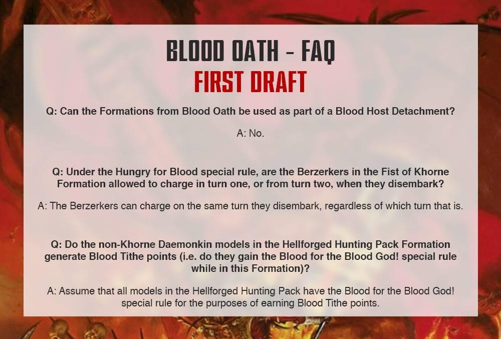 Blood Oath FAQ