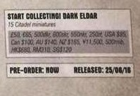 Dark Eldar Start Collecting pricing