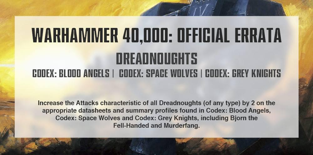 Dreadnought Errata
