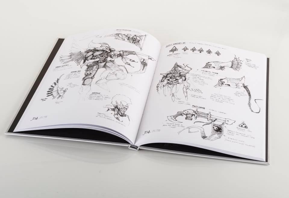 Eldar Book sketches GW Swag