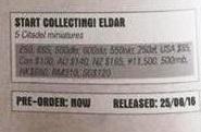 Eldar Start collecting price