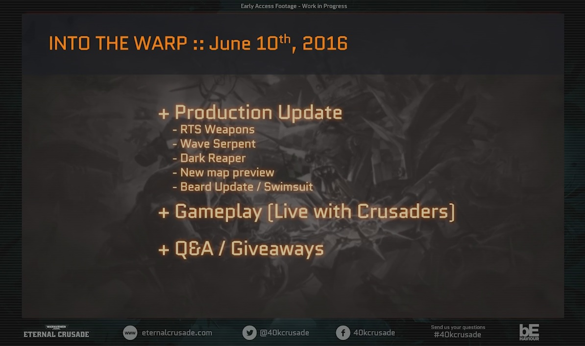 Eternal Crusade Production Update