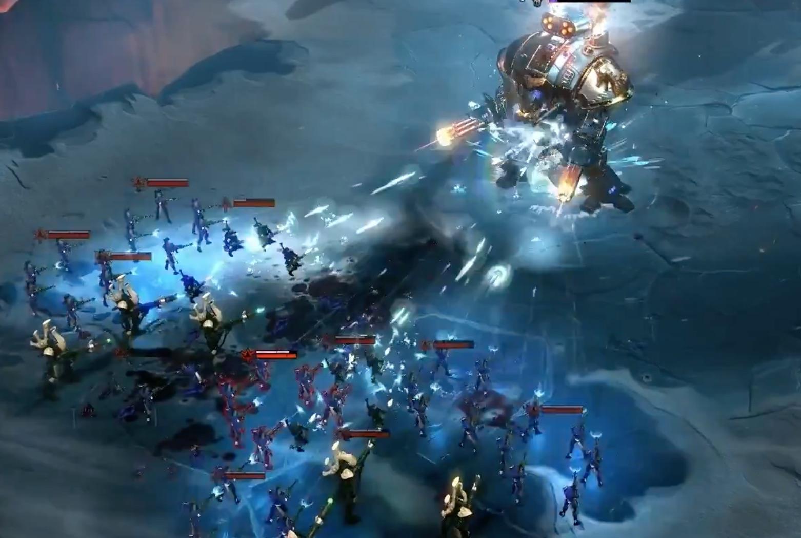 Knight vs Eldar Dawn of War III