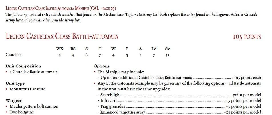 Legion Castellax
