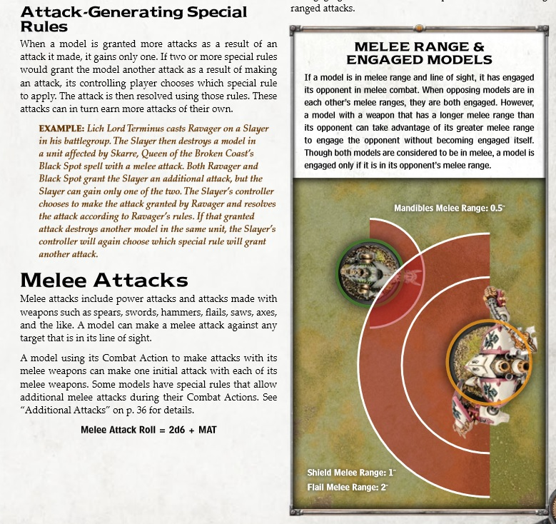 Melee attacks Warmachine PP