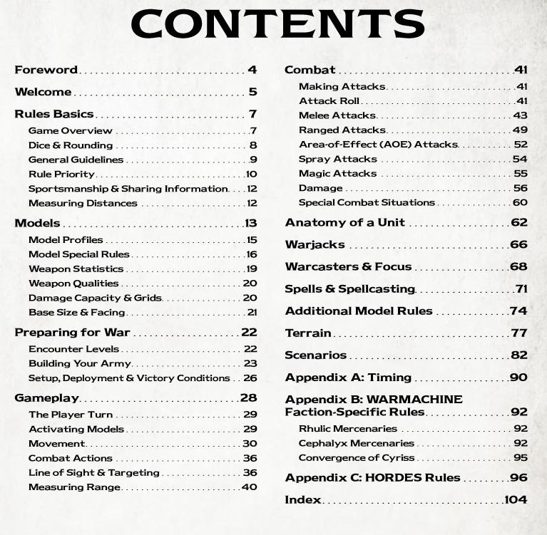 Prime Contents Privateer Press Warmachine