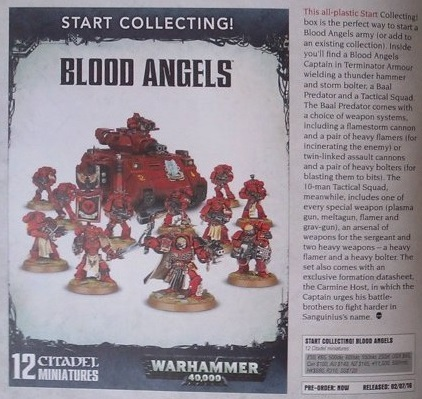 WD 126 Blood Angels Start Collecting