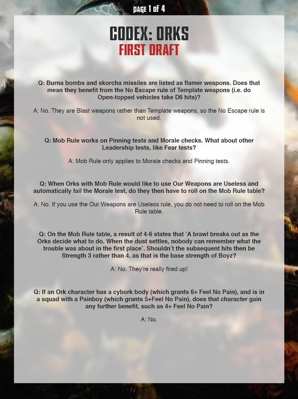 Ork FAQ 1