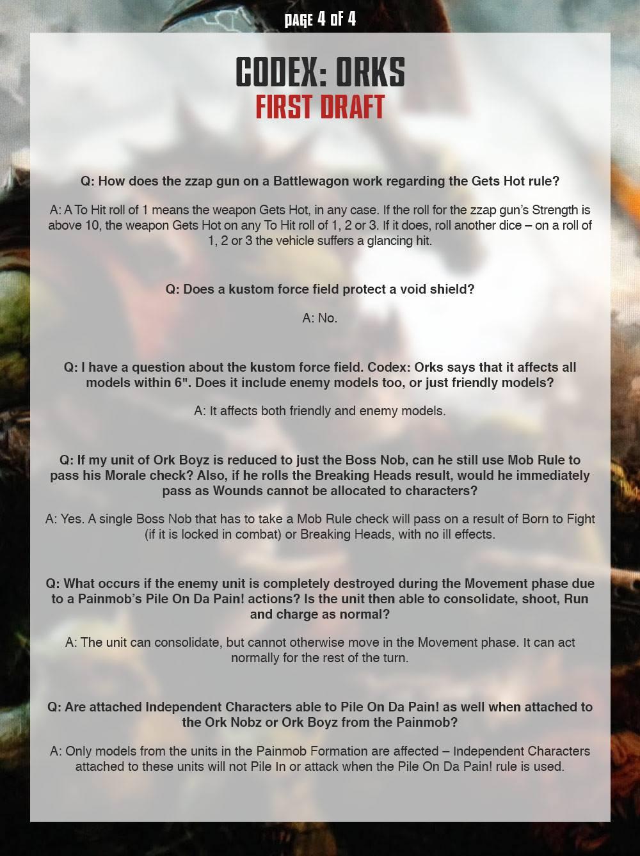 Ork FAQ 4