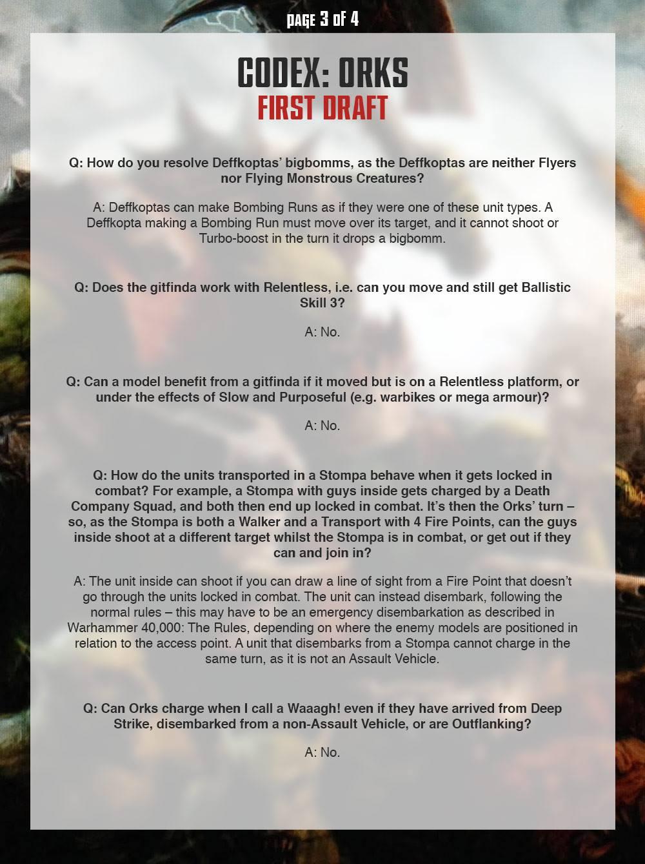 Ork FAQ 3