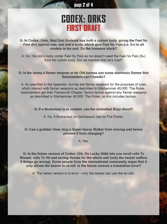 Ork FAQ 2