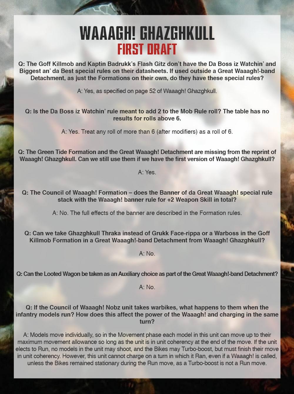 Ork FAQ 5