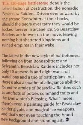 Beastclaw Raiders Battletome 6 text
